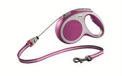 Flexi - Рулетка-трос для собак, размер M - 5 м до 20 кг (розовая) Vario cord pink - фото 20156