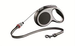 Flexi - Рулетка-трос для собак, размер M - 5 м до 20 кг (серая) Vario cord anthracite - фото 20157