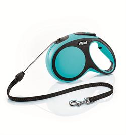 Flexi - Рулетка-трос для собак, размер M - 8 м до 20 кг (голубая) New Comfort Cord blue - фото 20158