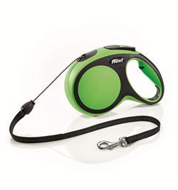 Flexi - Рулетка-трос для собак, размер M - 8 м до 20 кг (зеленая) New Comfort Cord green - фото 20160