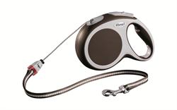 Flexi - Рулетка-трос для собак, размер M - 8 м до 20 кг (коричневая) Vario cord brown - фото 20169