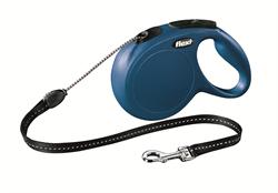 Flexi - Рулетка-трос для собак, размер M - 8 м до 20 кг (голубая) New Classic cord blue - фото 20170