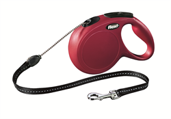 Flexi - Рулетка-трос для собак, размер M - 8 м до 20 кг (красная) New Classic cord red - фото 20171