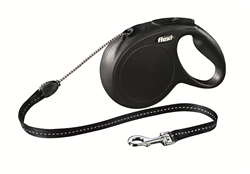 Flexi - Рулетка-трос для собак, размер M - 8 м до 20 кг (черная) New Classic cord black - фото 20176