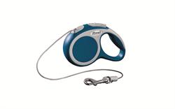 Flexi - Рулетка-трос для собак, размер XS - 3 м до 8 кг (голубая) Vario cord blue - фото 20178