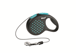 Flexi - Рулетка-трос для собак, размер XS - 3 м до 8 кг (голубая) Design Cord blue - фото 20179
