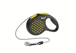 Flexi - Рулетка-трос для собак, размер XS - 3 м до 8 кг (желтая) Design Cord yellow - фото 20180