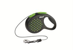 Flexi - Рулетка-трос для собак, размер XS - 3 м до 8 кг (зеленая) Design Cord green - фото 20181