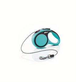 Flexi - Рулетка-трос для собак, размер XS - 3 м до 8 кг (голубая) New Comfort Cord blue - фото 20182