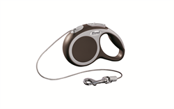Flexi - Рулетка-трос для собак, размер XS - 3 м до 8 кг (коричневая) Vario cord brown - фото 20185