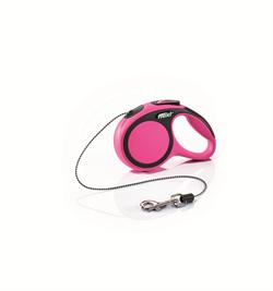 Flexi - Рулетка-трос для собак, размер XS - 3 м до 8 кг (розовая) New Comfort Cord pink - фото 20186