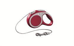 Flexi - Рулетка-трос для собак, размер XS - 3 м до 8 кг (красная) Vario cord red - фото 20187