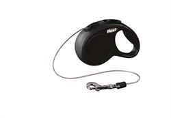 Flexi - Рулетка-трос для собак, размер XS - 3 м до 8 кг (черная) New Classic cord black - фото 20188