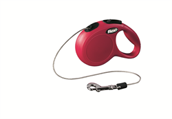 Flexi - Рулетка-трос для собак, размер XS - 3 м до 8 кг (красная) New Classic cord red - фото 20189
