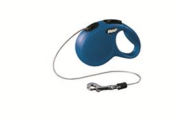 Flexi - Рулетка-трос для собак, размер XS - 3 м до 8 кг (синяя) New Classic cord blue - фото 20190