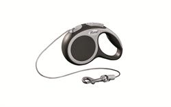 Flexi - Рулетка-трос для собак, размер XS - 3 м до 8 кг (серая) Vario cord anthracite - фото 20193