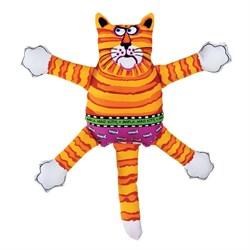 "Kitty City - Игрушка ""Кот-забияка"" мини FATCAT Mini Terrible Nasty Scaries, оранжевый - фото 20203"