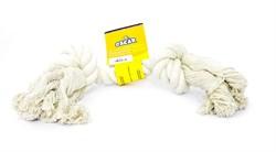 "Benelux - Игрушка для собак ""Белый канат"" 25 см Coton dog toy white  90 gr - фото 20206"