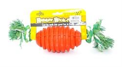 """Benelux - Игрушка для собак резиновая с канатом """"Бочонок"""" 8*32 см Rubber+rope dog toy nr 1 oscar - фото 20210"""