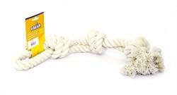 "Benelux - Игрушка для собак ""Белый канат"" 60 см Coton dog toy white 600 gr - фото 20227"