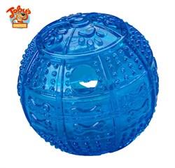 """Kitty City - Игрушка для собак """"Мяч для развлечения и угощения"""" Toby's Choice Treat Ball, 8,2 см - фото 20235"""