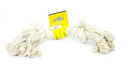 "Benelux - Игрушка для собак ""Белый канат"" 23 см Coton dog toy white  50 gr - фото 20247"