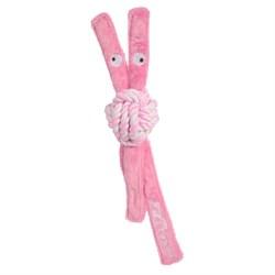 Rogz - Игрушка для щенков канатная с пищалкой, средняя (розовый) COWBOYZ ROPE TOY - фото 20270