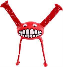 Rogz - Игрушка с принтом зубы и пищалкой, большая (красный) FLOSSY GRINZ ORALCARE TOY - фото 20301