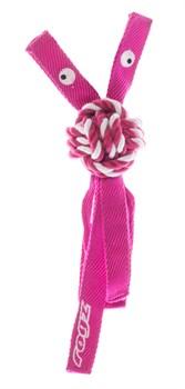 Rogz - Канатная игрушка с пищалкой, большая (розовый) COWBOYZ ROPE TOY - фото 20332