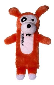 Rogz - Мягкая игрушка с карманом для пластиковой бутылки, большая (оранжевый) THINZ LARGE PLUSH TOY - фото 20360