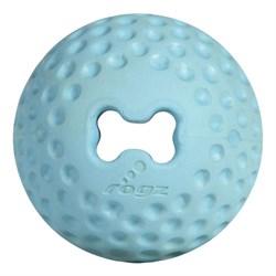Rogz - Мяч для щенков из литой резины с отверстием для лакомств, малый (голубой) PUPZ GUMZ BALL SMALL - фото 20378