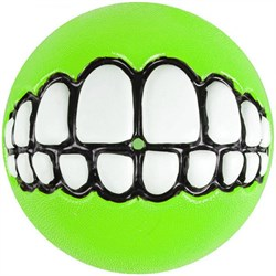 Rogz - Мяч с принтом зубы и отверстием для лакомств, большой (лайм) GRINZ BALL LARGE - фото 20405