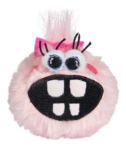Rogz - Плюшевый мяч для щенков с принтом зубы, средний (розовый) PUPZ MEDIUM GRINZ PLUSH - фото 20419