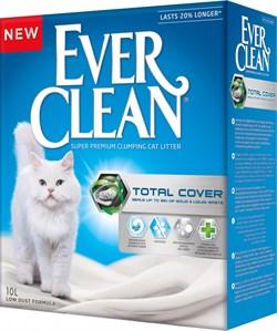 Ever Clean - Комкующийся наполнитель для кошек (с микрогранулами двойного действия, серая полоса) Total Cover - фото 20719