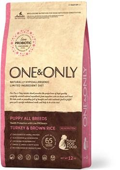 One&Only – Сухой корм для щенков (индейка с бурым рисом) Turkey&Rice Puppy - фото 20800