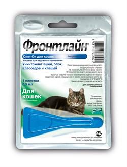 Frontline (Merial) -  Спот для кошек от блох и клещей, 1 пипетка, Spot K - фото 20987