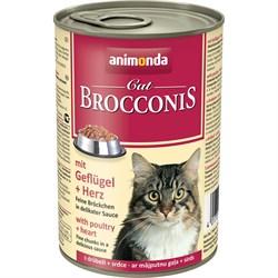 Animonda - Консервы для взрослых кошек (с мясом домашней птицы и сердцем) BROCCONIS CAT - фото 21399