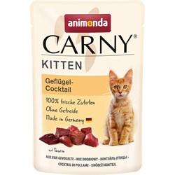 Animonda - Паучи для котят (коктейль из мяса домашней птицы) CARNY KITTEN - фото 21401
