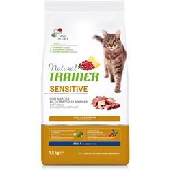 Trainer - Сухой корм для чувствительных и склонных к аллергии кошек (с уткой) Natural Sensitive Duck - фото 21437