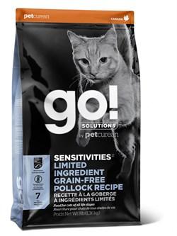 GO! Natural Holistic - Сухой корм беззерновой для котят и кошек с чувствительным пищеварением (с минтаем) Sensitivity + Shine Grain Free Pollock Cat Recipe - фото 21458