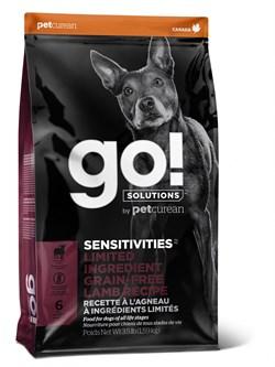 GO! Natural Holistic - Сухой корм беззерновой для щенков и собак для чувствительного пищеварения (с ягненком) Sensitivity + Shine LID Lamb Dog Recipe, Grain Free, Potato Free - фото 21461