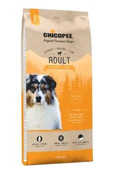 Chicopee - Сухой корм для взрослых собак всех пород (курица с рисом) CNL Adult Chicken & Rice - фото 21508
