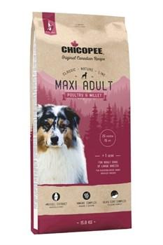Chicopee - Сухой корм для взрослых собак крупных пород (птица с просом) CNL Maxi Adult Poultry & Millet - фото 21520