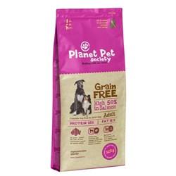 Planet Pet - Сухой корм беззерновой для взрослых собак всех пород (с лососем) Grain Free Salmon Adult - фото 21586