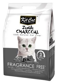Kit Cat - Наполнитель комкующийся цеолитовый для кошек (без запаха) Zeolite Charcoal Frangrance Free - фото 21705