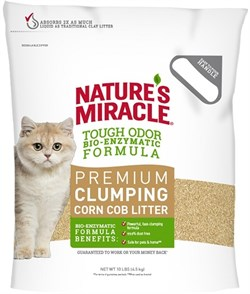 8in1 - Наполнитель комкующийся кукурузный для кошачьего туалета (натуральный свежий аромат) Nature's Miracle Odor Control Natural Care Cat Litter - фото 22069