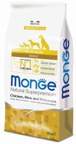 Monge - Сухой корм для собак всех пород (курица с рисом и картофелем) Dog Speciality Line - фото 22095