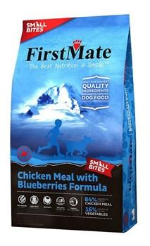 FirstMate - Сухой беззерновой корм для щенков и собак мелких пород (с курицей и голубикой) Chicken Meal With Blueberries Small Bites - фото 22191