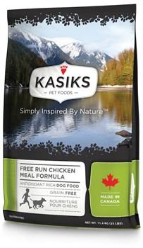 Kasiks - Сухой беззерновой корм для щенков и собак (с курицей) Free Run Chicken Meal - фото 22203