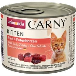 Animonda - Консервы для котят (с говядиной и сердцем индейки) CARNY Kitten - фото 22207